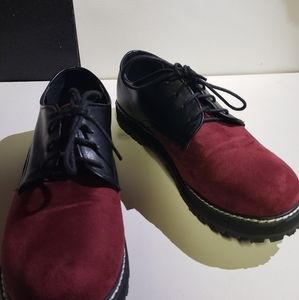 Red and black chunky oxfords size 7.5